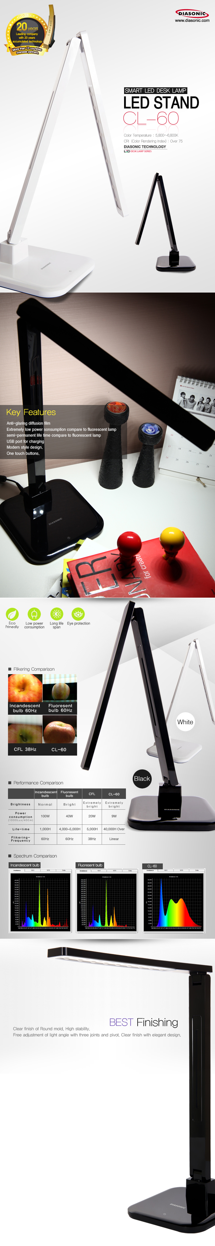 Led Desk Lamp Smart Led Desk Lamp With One Touch Buttons